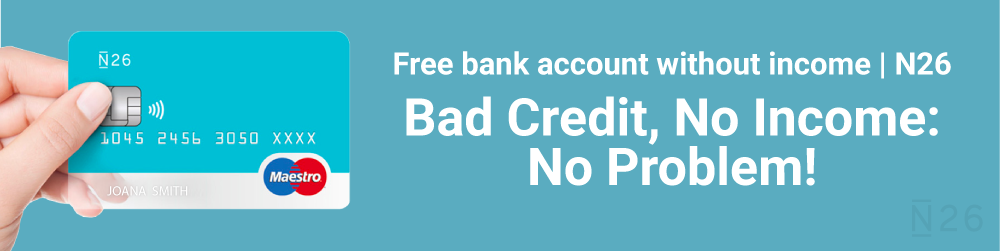 Free bank account with no fees with N26